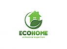 Öko-Haus, Zuhause, Blatt, Grün, Natur