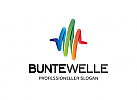 Ö, Welle, Marketing, Puls, Medien, Bunt, Malen, Beratung Logo
