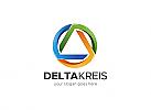 Ö, Zeichen, Kreis, bunt, Dreieck, Delta, Circle, Zirkel, Ring, Beratung, Sicherheit Logo