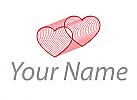 Zweifarbig, Viele Herzen, Logo