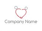 Zwei Personen, Zweifarbig, Menschen als Herz, Logo