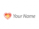 Zweifarbig, Zeichen, Zeichnung, Symbol, Herz, Wellen, Logo