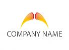 Ökologie, Zwei Flügel, farbig, Logo