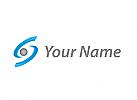 Zwei Pfeile und Erdball Logo
