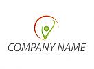 Ökomedizin, Zeichen, Zeichnung, Person in Bewegung, Logo