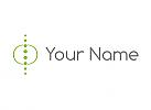 Öko, Wirbelsäule, Orthopädie, Kreise, Logo