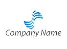 Zweifarbig, Viele Wellen, Wasserwellen, Logo