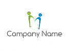 Zwei Personen, Menschen, Paar, Logo