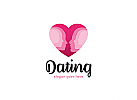 Ö, Zwei Personen, Paar als Herz Logo
