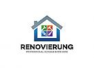 Ö Zeichen, Signet, Logo, Haus, Immobilien, Renovierung, Sanierung, WDVS, Fenster, Tür, Dach, Boden