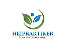 Ö, Öko, Blatt, Mensch, Heilpraktiker, Blätter Logo