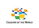 Zeichen, Marke, Welt in Farben, Internationalität, Globalität