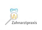 Zeichen, Zahn, Lupe, Zahnarztpraxis, Zahnlabor
