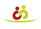 Zeichen, zweifarbig, Signet, Symbol, Krankenpflege, Altenpflege, Arztpraxis