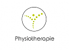 Zeichen, zweifarbig, Signet, Symbol, Kreis, Kugeln, Mensch, Physiotherapie, Arztpraxis, Abstrakt