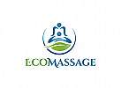 Ö, Wellness, Öko Massage, Eco, Massage, grün Logo