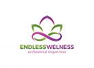 Ö, Wellness, Spa, Kosmetik, Ästhetische Verfahren, Ergänzungsladen, Lotus, Unendlichkeit Logo