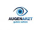 Ö, Optiker, Augenarzt, Auge, Iris, Spiralen, Vision, Sicht, Logo