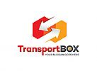 Ö, Zeichen, Transport, Pfeile, Sechseck, Hexagon, Richtung, Logistik Logo