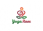 Ö, Yoga, Blatt, Wellness, Spa, Kosmetik, Ästhetische Verfahren, Ergänzungsladen, Rose, Unendlichkeit Logo