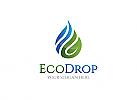 Öko Tropfen, Wasser, Flamme Logo, Schutz, Natur