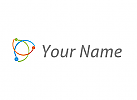 Zeichen, Zeichnung, Verknüpfung, Kreise, Kugel und Halbkreise Logo