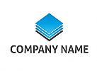 Zweifarbig, Zeichen, Zeichnung, Viele Rechtecke, Buchhaltung Logo