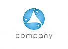 Zeichen, zweifarbig, Signet, Symbol, Fische, Abstrakt, Logo