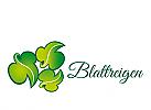 XYK, Zeichen, Blätter, Garten, grün, Marke, Biokosmetik