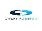 Zeichen, zweifarbig, Signet, Symbol, Segmente, Logo