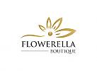 Ö, Wellness, Kosmetik, Boutique, Schönheitszentrum, Blume, Blatt Logo