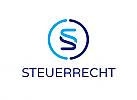 §,Zeichen, zweifarbig, Steuerberater, Rechtsanwalt, Logo, modern