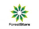 XYK, Zeichen, Stern, Bäume, Wald, Umwelt, grün, Ökologie