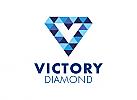 Zeichen, Signet, Symbol, V, Diamant