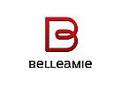 Zeichen, zweifarbig, Symbol, Signet, Logo, B