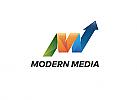 Ö, Zeichen, Buchstabe M, Marketing, Daten, Media, Pfeil, Progress, Modernes Logo