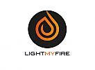 Zeichen, zweifarbig, Signet, Symbol,Flamme, Feuer, Kreis, Logo