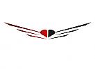 ö, Zeichen, zweifarbig, Signet, Symbol, Flügel, Herz