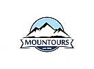 Ö, Berg, See, Reise, Ski, Camping, Wandern, Sport Logo