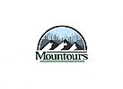 Ö, Zeichen, Berg, See, Reise, Ski, Camping, Wandern, Sport, Mountain Logo
