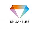Zeichen, Signet, Symbol, Luxus, Leben, Diamant, Brilant, Logo