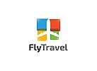Ö, Zeichen, Flugzeug, Flug, Fliegen, Reisen, Tourist, Ausflügler, Logo