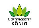XYK, Zeichen, Krone, Blätter, Gartencenter, Gärtnerei