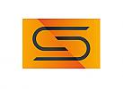 Zeichen, zweifarbig, Signet, Symbol, Büroklammer, S