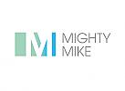 Zeichen, zweifarbig, Signet, Logo, Buchstabe, M, Logo