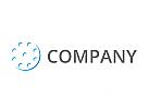 Viele Kreise in blau Logo