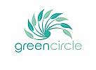 Ökologie, Zweifarbig, Zeichen, Signet, Symbol, Mensch, Natur, Spirale, Heilpraktiker, Logo