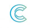 Zeichen, zweifarbig, Signet, Symbol, Spirale, C, Logo