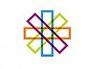 Zeichen, Signet, Symbol Rechtecke, Kreuz