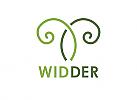 Zeichnung, zweifarbig, Zeichen, Signet, Symbol, Aries, Widder, Hörner, Logo
